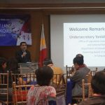Photo 1: Undersecretary Tonisito M.C. Umali, Esq gives welcome remarks in the opening ceremony